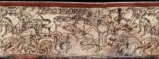 Fotografías de Rodamiento de vasijas Mayas, K0521 con escena de Mitología. ©K0521 Justin Kerr