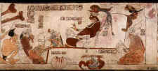 Rollout Photograph of Maya Vase, K1453 with Palace Scene. ©K1453 Justin Kerr