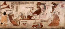 Fotografías de Rodamiento de vasijas Mayas, K1453 con escena de palacio ©K1453 Justin Kerr