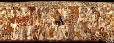 Rollout Photograph of Maya Vase, K2206 with Warrior Scene. ©K2206 Justin Kerr