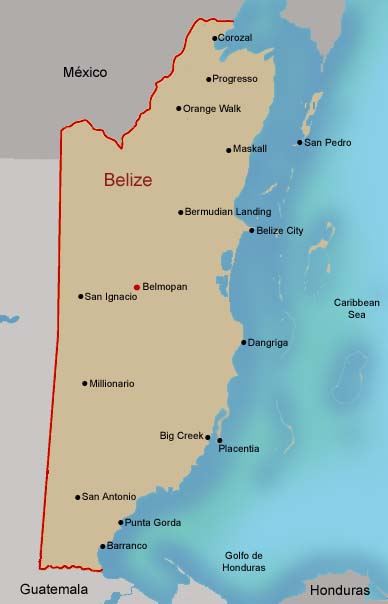 FAMSI - Map of Belize