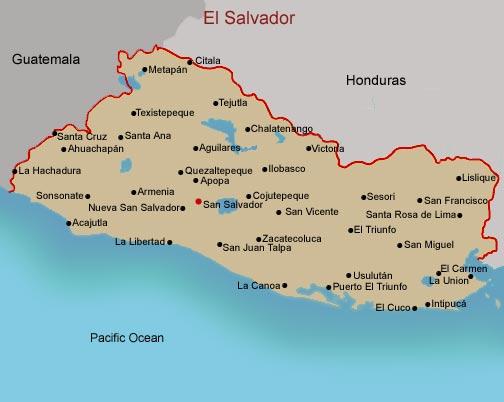 FAMSI - Map of El Salvador