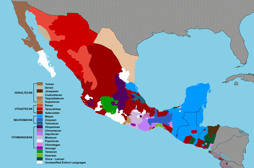 Linguistic Map of Mesoamerica