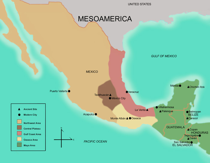 FAMSI - Map of Mesoamerica - Foundation for the Advancement of ...