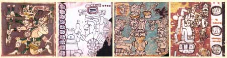 Images from pages of the four Maya Codices