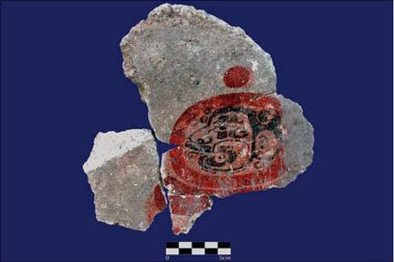 Figure 7. Reconstructed calendar glyph from fallen Eastern Mural.