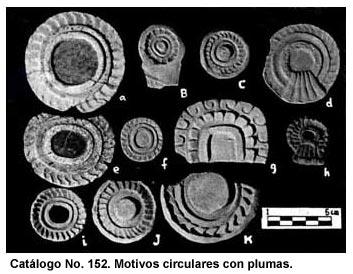 Catálogo No. 152. Motivos circulares con plumas.
