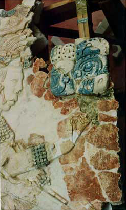 Stucco Relief from Structure XIX, Palenque