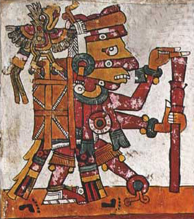 Figure 1. Red Tezcatlipoca, Codex Borgia, p. 21.