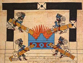 Click on image to enlarge Figure 5. The New Fire Ceremony, Codex Borbonicus, p. 34.