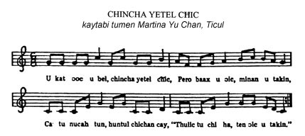 music score for CHINCHA YETEL CĦIC