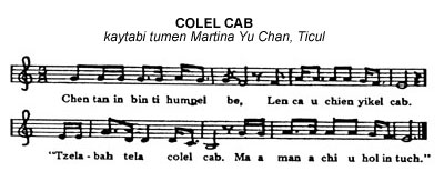 music score for COLEL CAB
