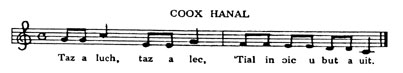 music score for COOX HANAL