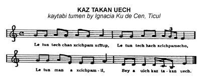 music score for KAZ TAKAN UECH