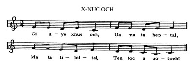 music score for X-NUC OCH