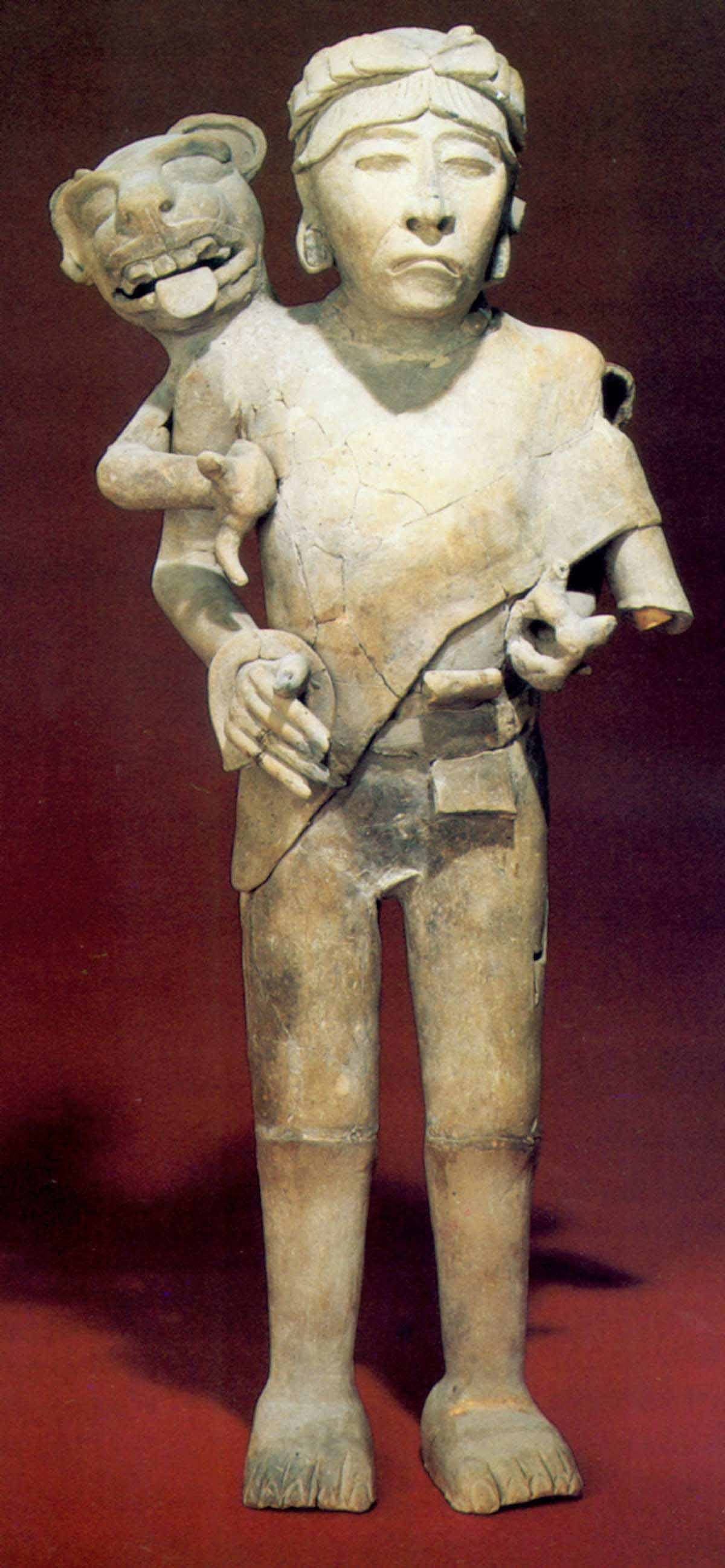 Cihuateteo standing man sculpture