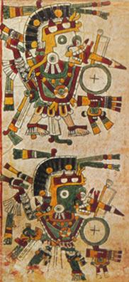 Imagen de la Porción de la Página 9 del Códice Cospi
