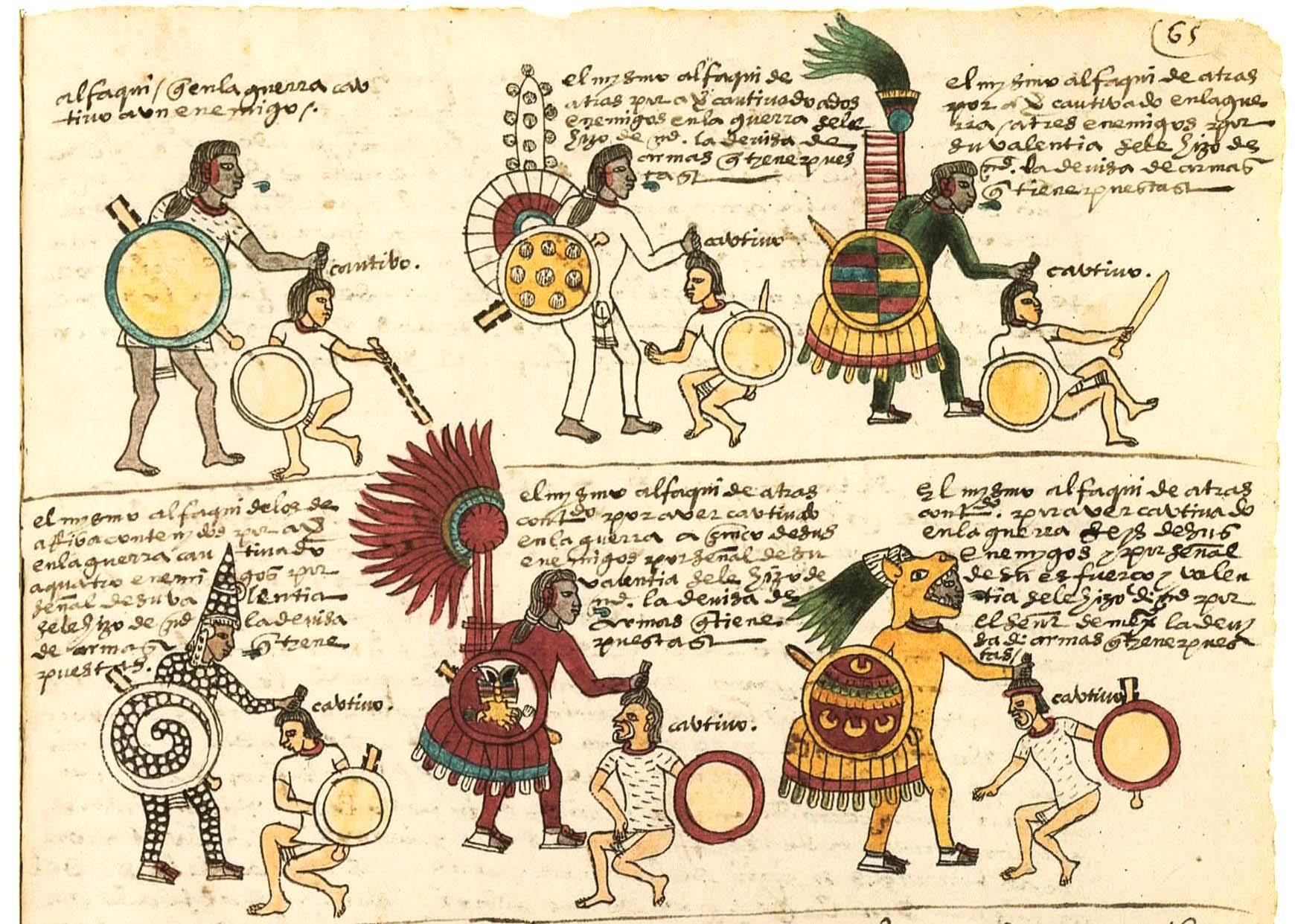 Guerreros que realmente existieron  en la Civilización Azteca Aztec4figure08
