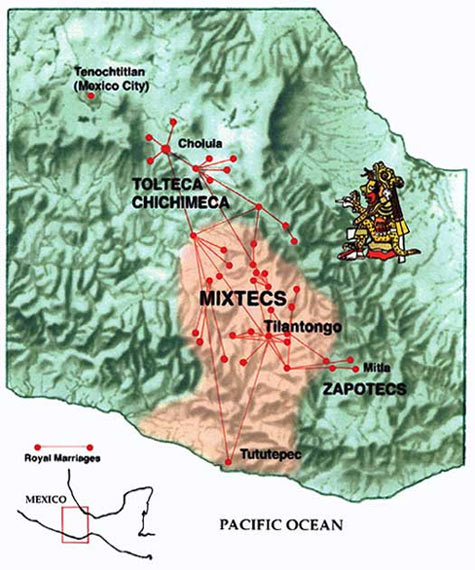 Map of Mixtec Region