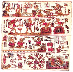 Imagen - Página del Códice de Selden, Universidad de Oxford, Haga clic en la imagen para más detalle.
