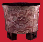 Image - Cup with image of Teotihuacán rain diety