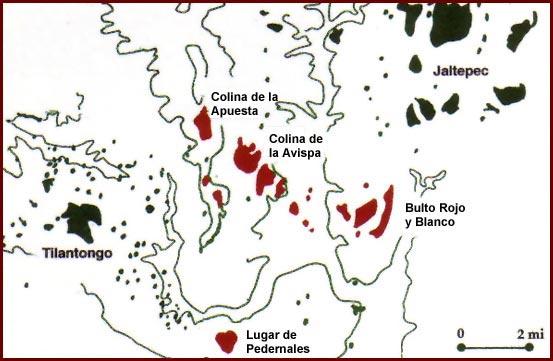 Imagen - Mapa de Signos de Lugar Identificados en Códices Mixtecos